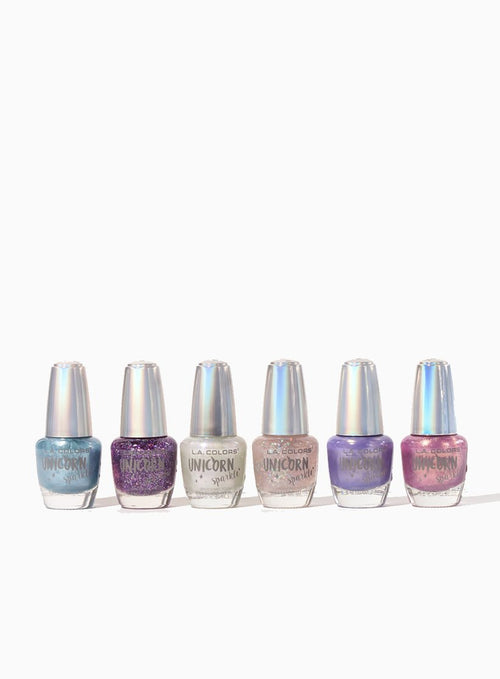Unicorn Sparkle Nail Polish Set (6 Units)
