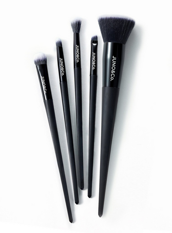 Juno Matte Black Brush Set