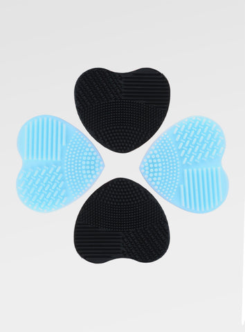Heart Shape Brush Cleaners in Blue and Black