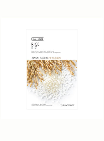 [THE FACE SHOP] Rice Real Nature Face Mask