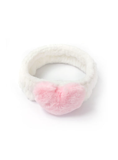 Heart Headband - Pink/White