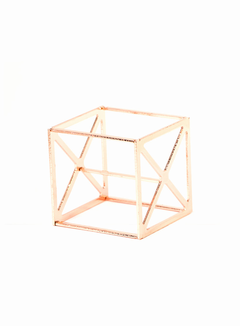 Sponge Cube Holder in Rose Gold