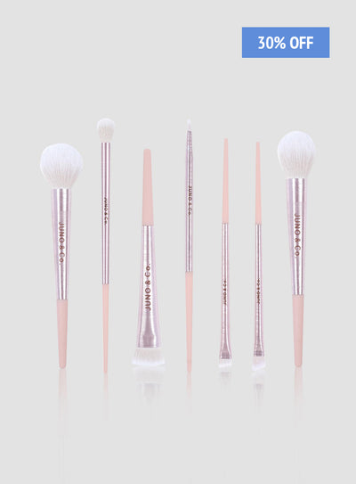 9 pcs Ice Pink Brush Set