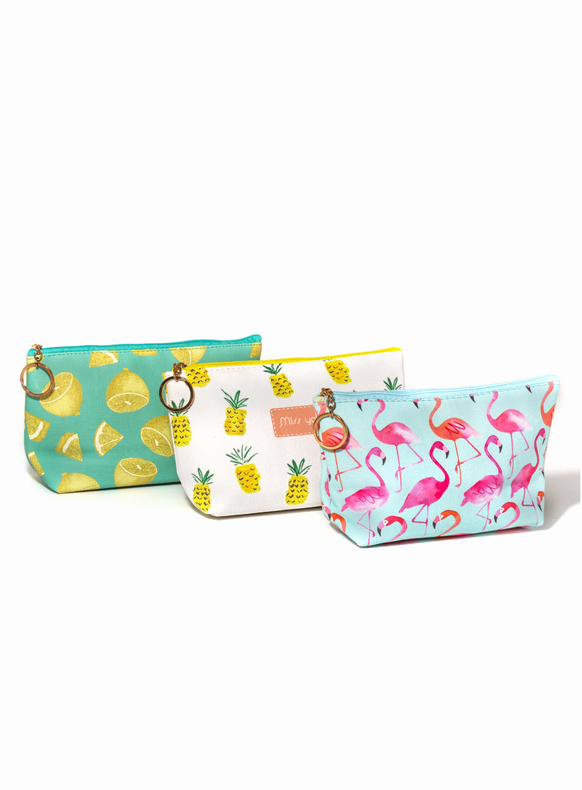 Party Like a Pineapple Makeup Bag