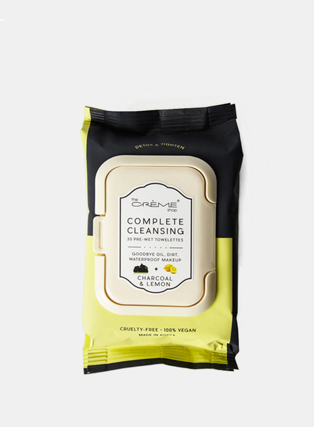 The Creme Shop Complete Cleansing Towelettes 30 Count - Charcoal & Lemon