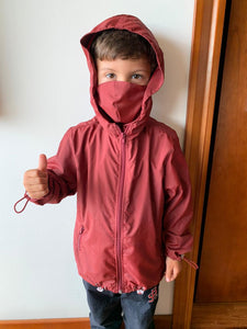 Chaqueta  Anti -Fluido Vinotinto Junior