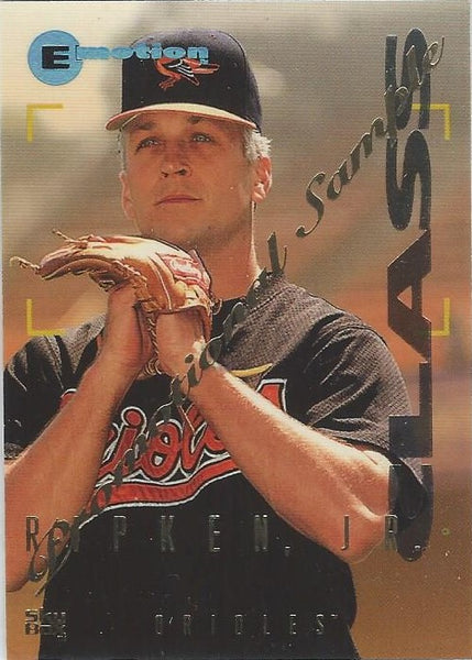 1995 Skybox Emotion Promotional Sample #8 Cal Ripken Jr.