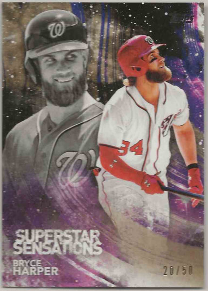 2018 Topps Superstar Sensations Gold Bryce Harper #SSS31 - 20/50