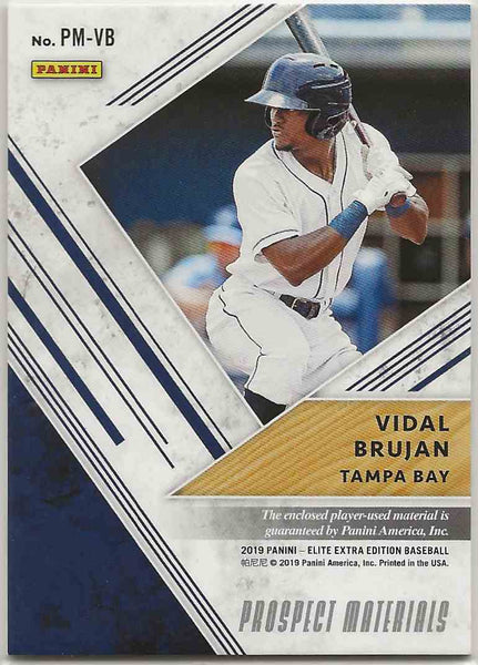 2019 Elite Extra Edition Prospect Materials Black Vidal Brujan #PM-VB