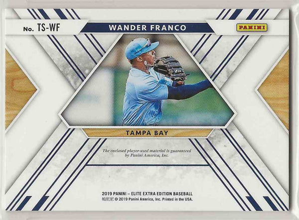 2019 Elite Extra Edition Triple Silhouettes Black Wander Franco #TS-WF- 320/399