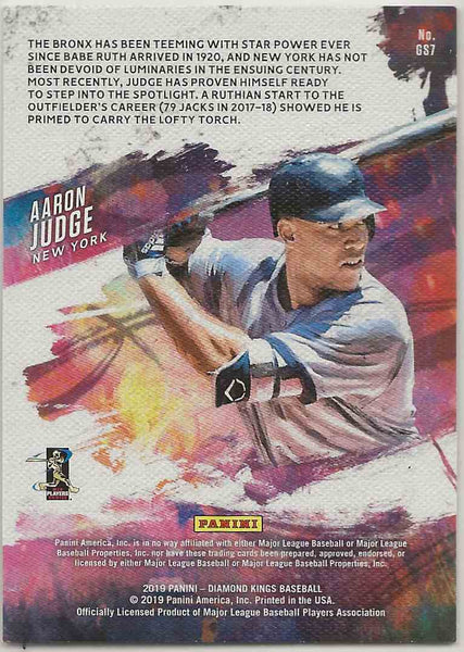 2019 Panini Diamond Kings Gallery of Stars Aaron Judge #GS7