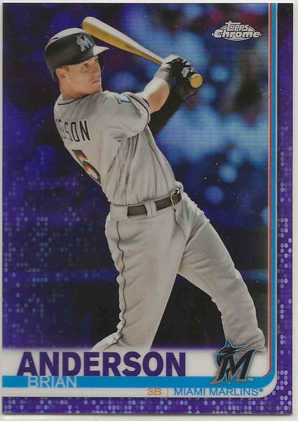 2019 Topps Chrome Purple Refractor Brian Anderson #12 - 023/299