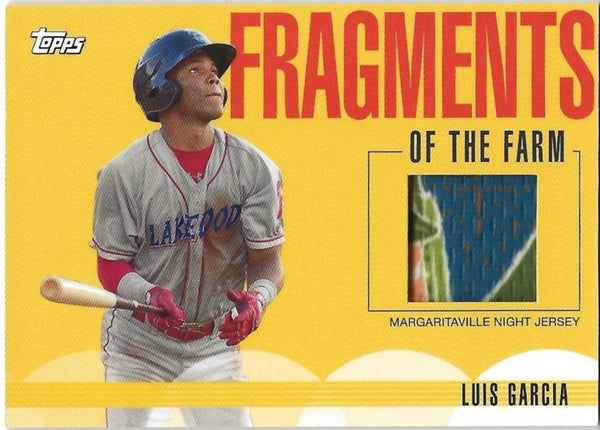 2020 Topps Fragments of the Farm Relic Luis Garcia #FF-MNJ