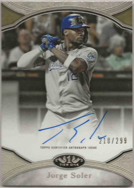 2020 Topps Tier One Prime Performers Auto Jorge Soler #PPAJOS - 210/299