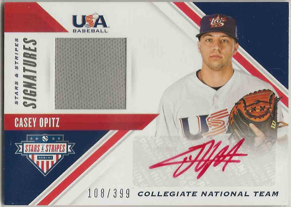2020 Panini USA Baseball Stars & Stripes Signatures Relic Casey Opitz #SSSCO