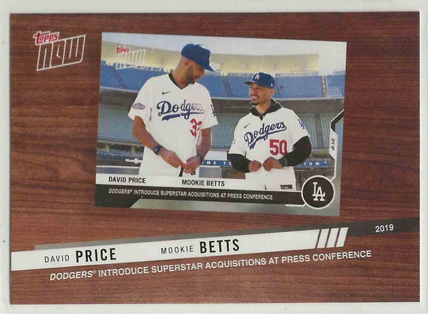 2020 Topps MLB Topps Now David Price & Mookie Betts #BTN-10 - Front