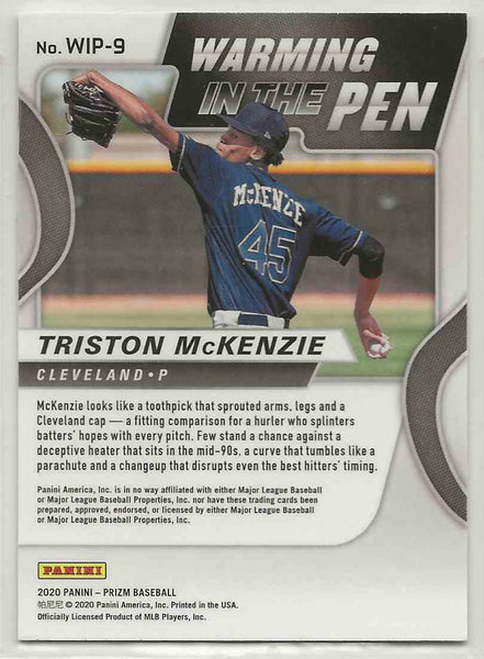 2020 Panini Prizm Warming in the Pen Triston McKenzie #WIP-9