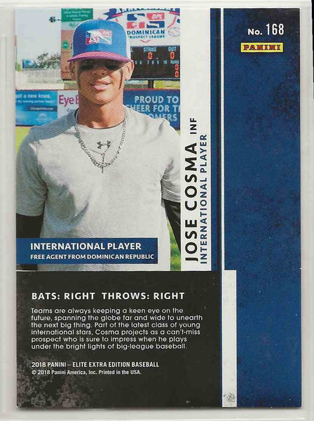 2018 Panini Elite Extra Edition Jose Cosma #168 - 275/999