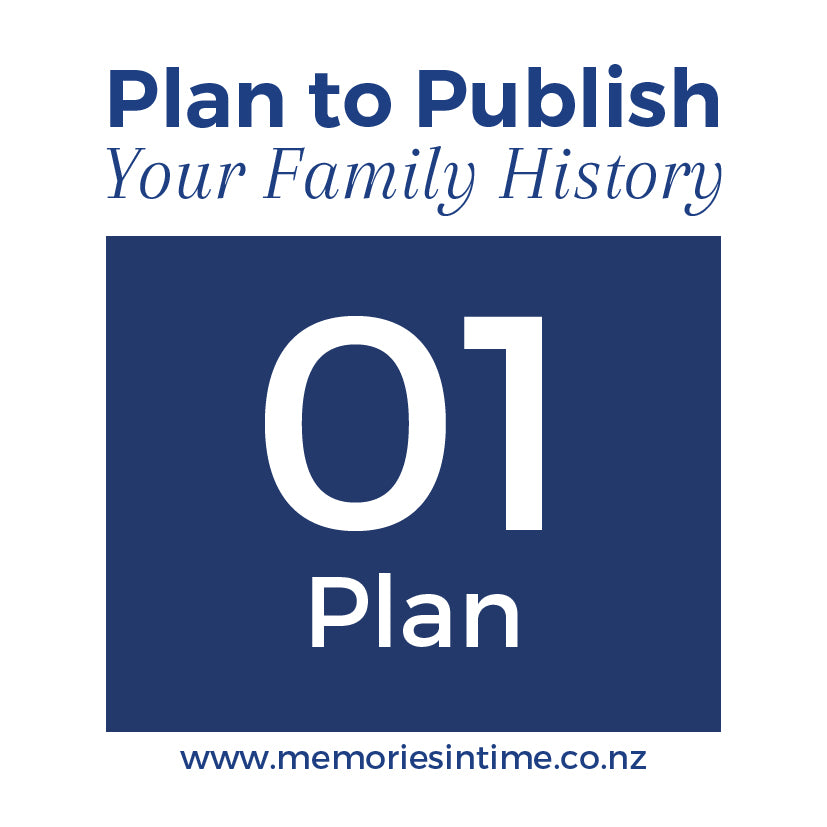 Plan to Publish - Your Family History