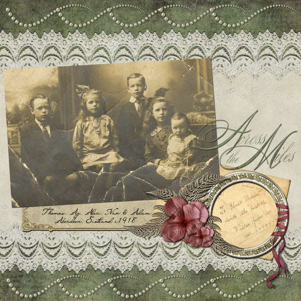 Digital Scrapbook Page - Urquhart Family c1918