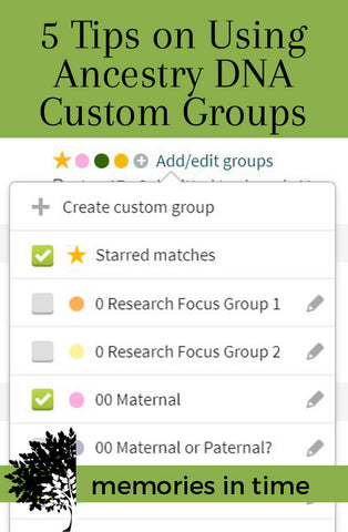 5 Tips on Using Ancestry DNA Custom Groups