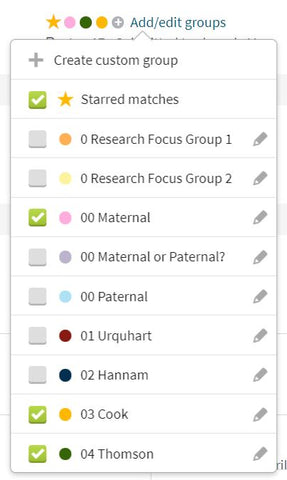 Ancestry DNA Match Edit Group