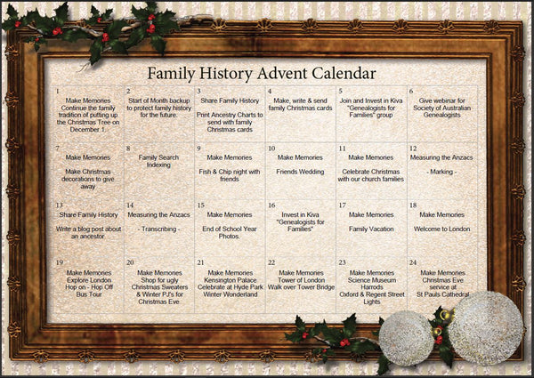 Family History Advent Calendar