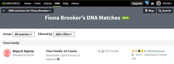 Ancestry DNA Matches