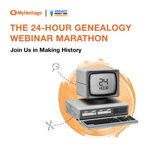 The 24-Hour Genealogy Webinar Marathon - New Zealand Schedule