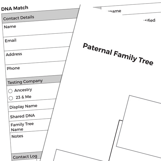 DNA Match Chart - Downloadable