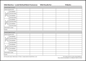 DNA Match - Leeds Method Worksheet