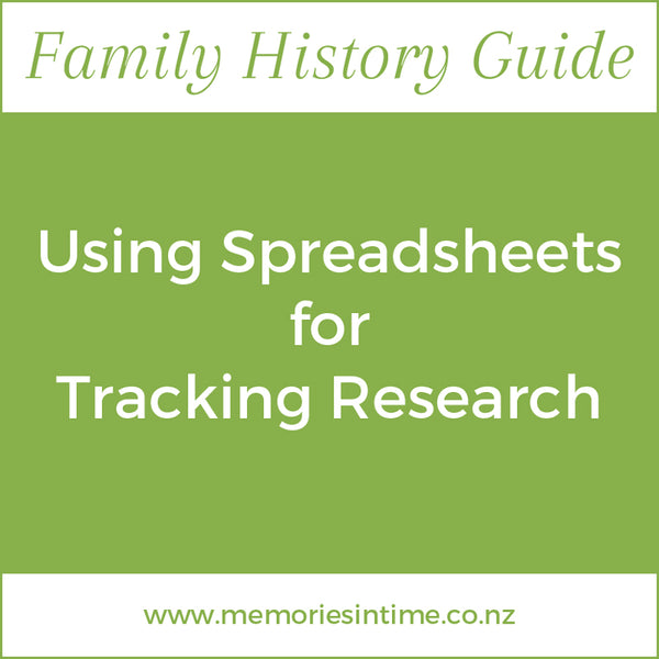 Using Spreadsheets for Tracking Research
