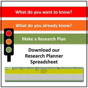 Family History Research Planner - Spreadsheet