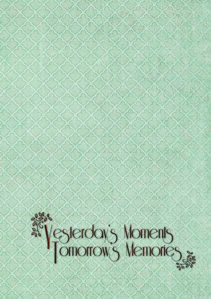 Yesterday's Moments... Tomorrow's Memories Book
