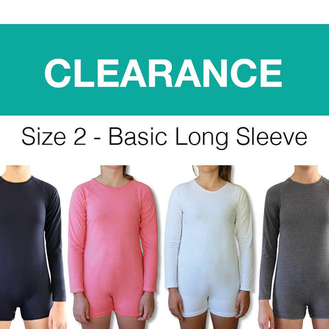 *CLEARANCE STOCK*  Size 2 Toddler Long Sleeve Bodysuit
