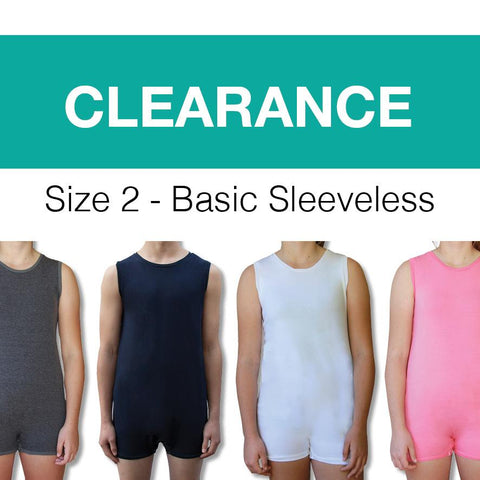 *CLEARANCE STOCK*  Size 2 Toddler Sleeveless Bodysuit