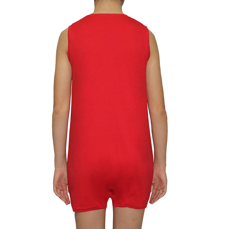 Red Sleeveless Bodysuit  |  Wonsie - Wonsie