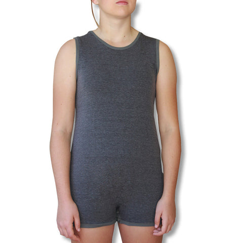 Grey Sleeveless Bodysuit  |  Wonsie