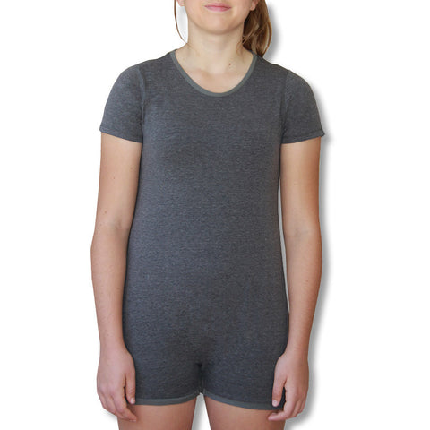 Grey Short Sleeve Bodysuit  |  Wonsie