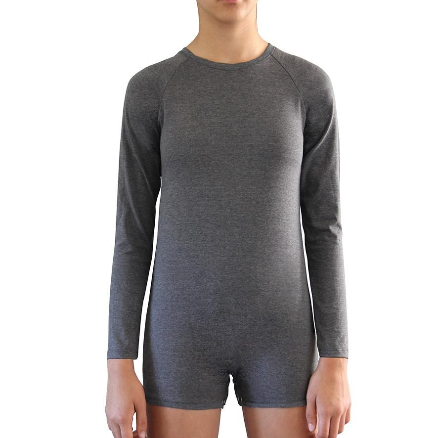 Grey Long Sleeve Bodysuit  |  Wonsie
