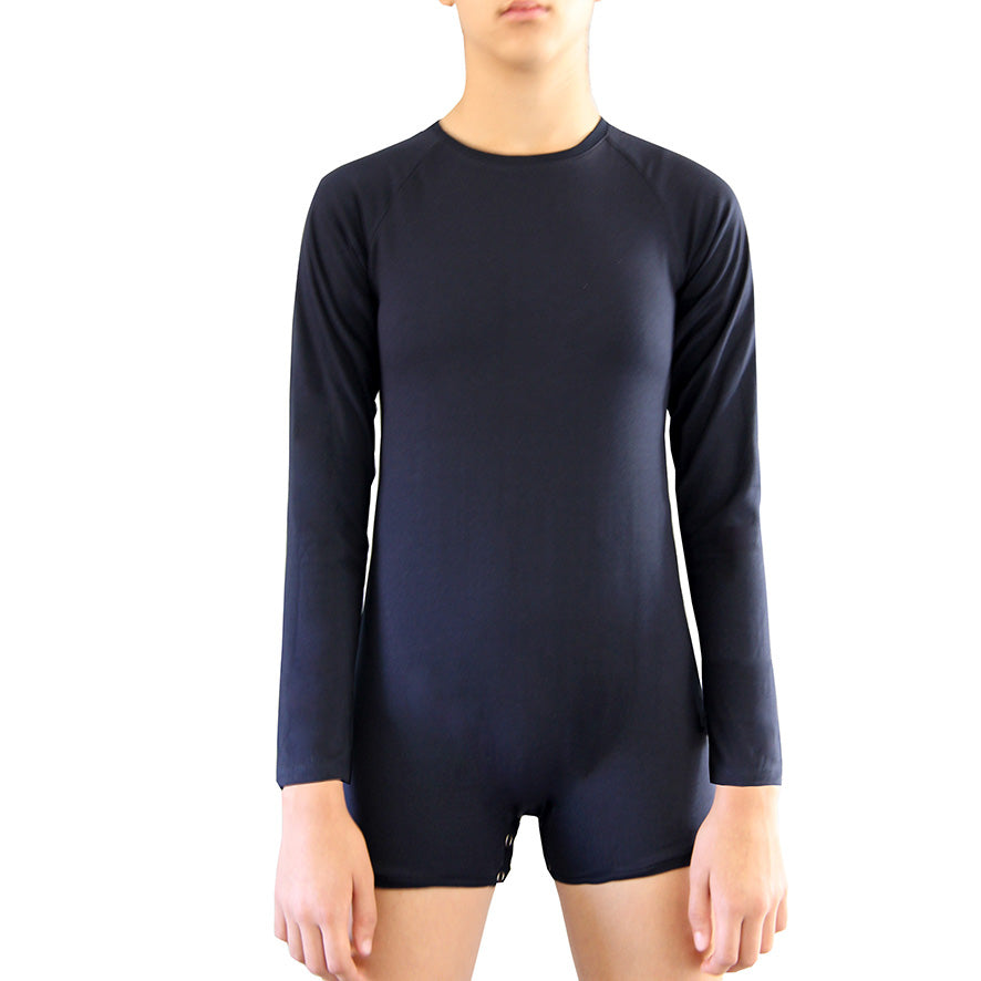 Navy Long Sleeve Bodysuit  |  Wonsie - Wonsie  |  Clothing for Special Needs