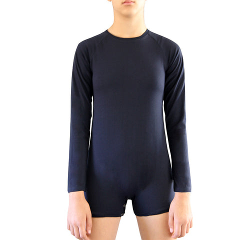 Navy Long Sleeve Bodysuit  |  Wonsie