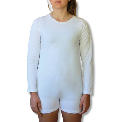 White Long Sleeve Bodysuit  |  Wonsie