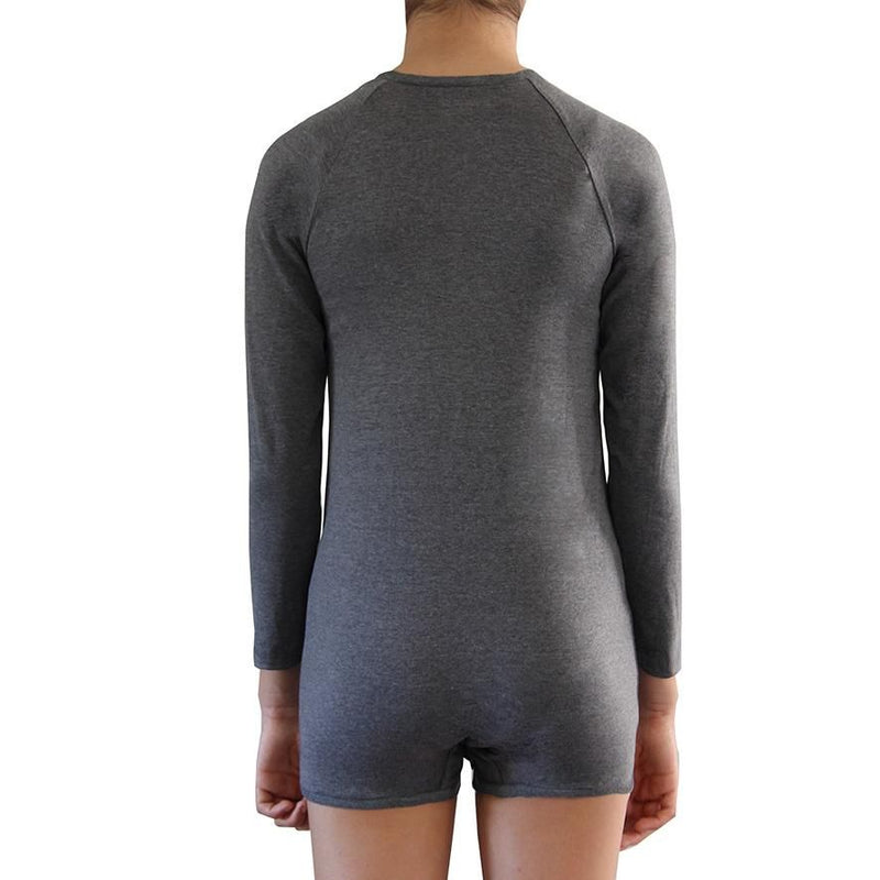 Grey Long Sleeve Bodysuit  |  Wonsie - Wonsie