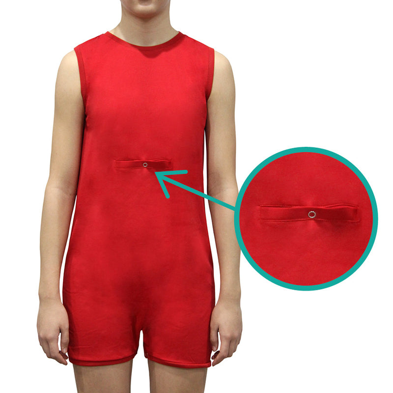 Red Tummy Access Sleeveless Bodysuit  |  Wonsie - Wonsie