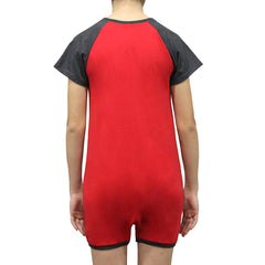 Red/Grey Short Sleeve Bodysuit  |  Wonsie - Wonsie