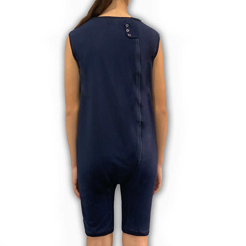 Navy Zip Back Sleeveless/knee length Jumpsuit  |  Wonsie - Wonsie