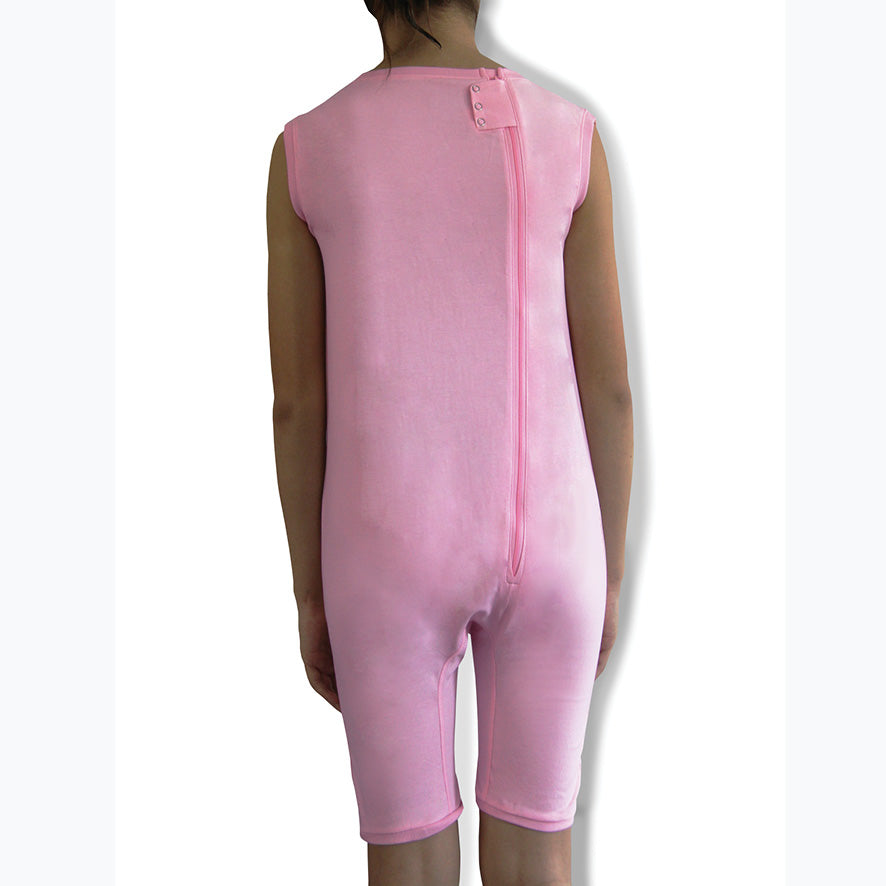 Pink Zip Back Sleeveless/knee length Jumpsuit  |  Wonsie - Wonsie  |  Clothing for Special Needs