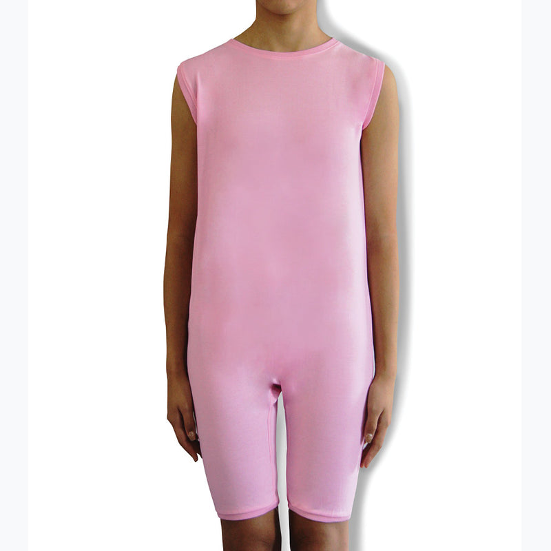 Pink Zip Back Sleeveless/knee length Jumpsuit  |  Wonsie - Wonsie