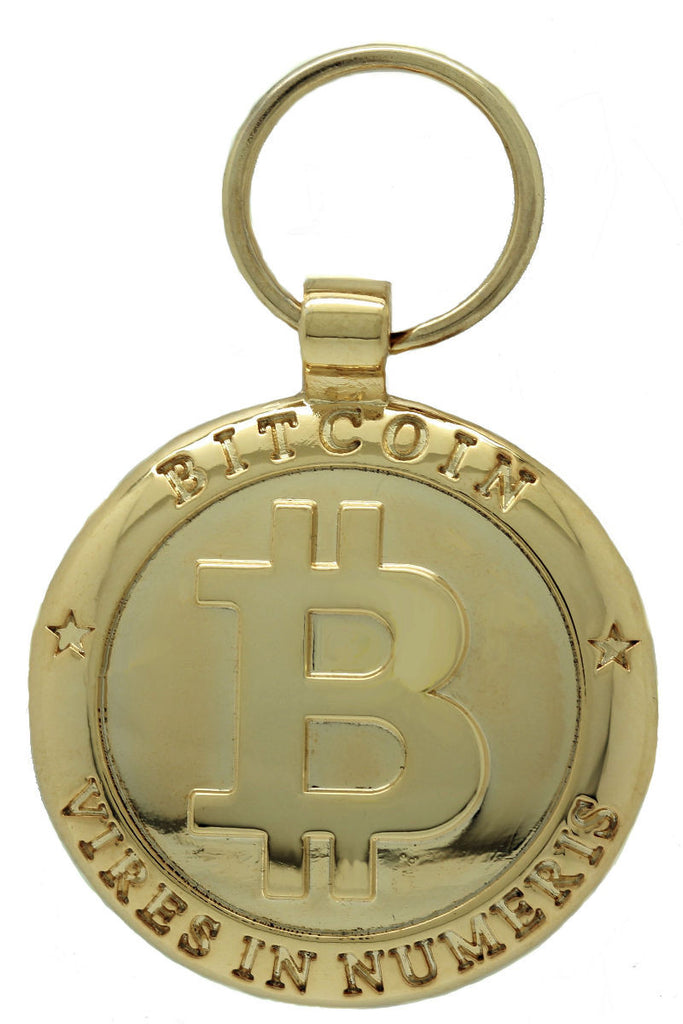 Gold Bitcoing Pet Id Tag
